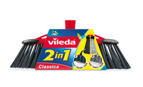 Vileda - 2-In-1 Broom With Handle