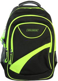 Avalanche Student Backpack - Black-Lime