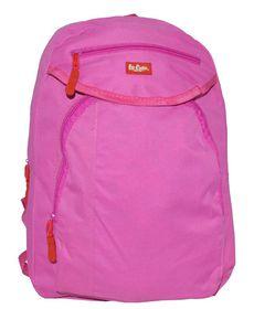 Lee Cooper Double Zip Backpack - Small-Pink