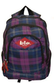 Lee Cooper backpack. Checked. Navy. Black