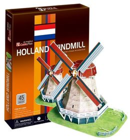Cubic Fun Holland Windmill (Holland) 45 pieces 3D Puzzle