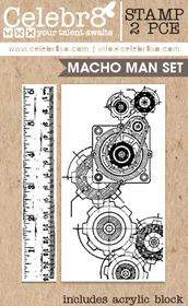 Celebr8 Macho Man Stamp - Macho Man Set