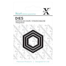 Xcut Mini Dies - Nesting Hexagons