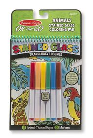 Melissa & Doug On The Go Stained Glass Animals