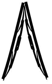 Fragram - Wiper Blades 18 inch Per Pair - Black