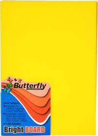 Butterfly A4 Bright Board 100s - Yellow