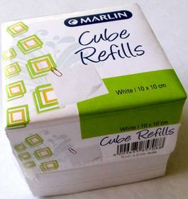 Marlin Cube Refills White (10 x 10cm)
