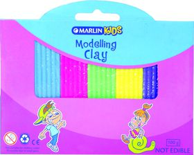 Marlin Kids Modelling Clay 100g 6 Neon Colours