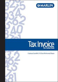 Marlin A5 Duplicate Pen Carbon Book - Tax Invoice