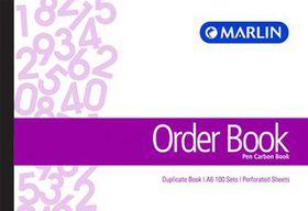Marlin A6L Duplicate Pen Carbon Book - Order Book