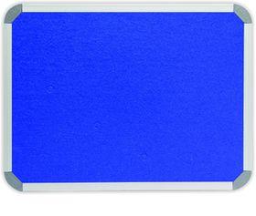 Parrot Info Board Aluminium Frame - Royal Blue Felt (1200 x 1200mm)