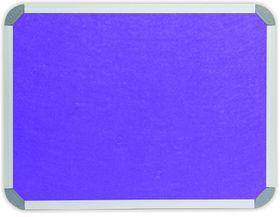 Parrot Info Board Aluminium Frame - Purple Felt (1500 x 1200mm)