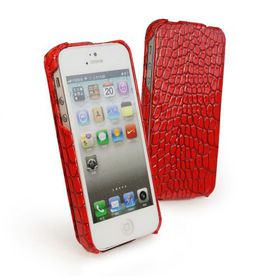 Tuff-Luv Flip Style Croc Case for iPhone 5/5/SE - Shiny Red