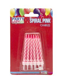 Party with Us Birthday Candles in Pink
