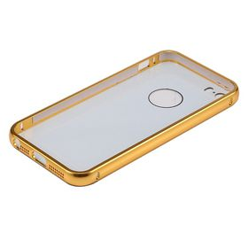 Tuff-Luv Polished Metal Bumper for the Apple iPhone 5/5S and SE - Gold