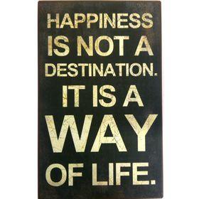 Pamper Hamper Happiness Is Not A Destination Metal Plaque
