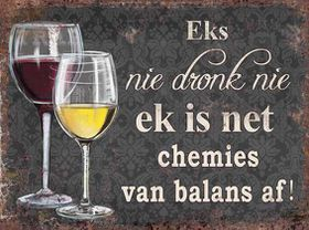 Pamper Hamper - Eks Nie Dronk Nie Metal Plaque