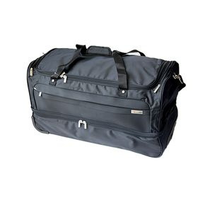 Gino De Vinci Lumiere 71cm Double Deck Roller Bag - Black