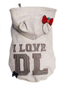Dog's Life - I Love DL Hoodie - Grey Large