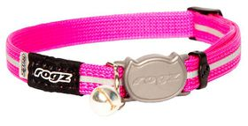 Rogz - Alley Cat Reflective Breakaway Safeloc Buckle Collar - Pink