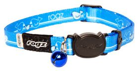 Rogz Kiddy Cat Safeloc Breakaway Collar - Royal Birds Design