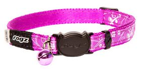 Rogz - Silky Cat Safeloc Breakaway Collar - Purple Filigree Design
