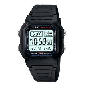 Casio Mens W-800H-1AVDF Dual Time Digital Watch