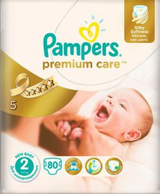 Pampers Premium Care Nappies - Size 2 - Value Pack (80 count)