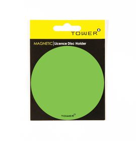 Tower Magnetic Licence Disc Holder - Green
