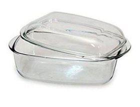 Pyrex - Essentials Glass Rectangular Casseroles Sleeve Version with Lid - 3 Litre + 1.5 Litre