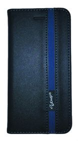 Scoop Executive Folio For Samsung S6 Edge Plus - Black & Blue