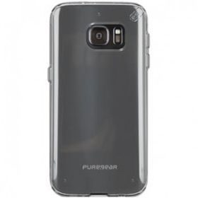Puregear Samsung Galaxy S7 Edge Slim Shell Pro - Clear & Blue