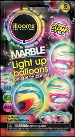 Illooms Light Up Marble Balloons