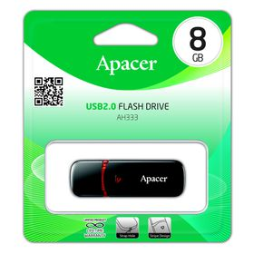 Apacer AH333 8GB USB2.0 Flash Drive - Black