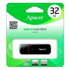 Apacer AH333 32GB USB2.0 Flash Drive - Black