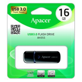 Apacer AH355 16GB USB3.0 Flash Drive - Black