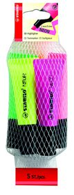 Stabilo Neon Highlighters 5 Pack (Yellow, Green, Orange, Pink, Magenta)