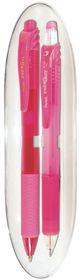 Pentel Energel X Pen & Pencil Gift Set - Pink