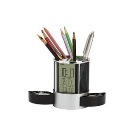 Eco Clock Organiser with Pen Cup