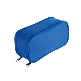 Eco Dual Zip 20cm Pencil Bag - Blue