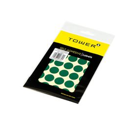 Tower C19 Colour Code Labels (Sheets) - Green