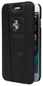 Ferrari 458 for iPhone6 Leather Book - Camel/Silver