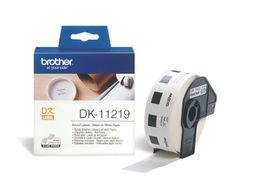 Brother DK-11219 Round Labels (12mm Diameter) Roll - Black on White Paper