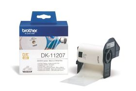 Brother DK-11207 CD/DVD Labels (58mm) Roll - Black on White Film