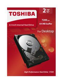 "Toshiba 2TB 3.5"" P300 Desktop Internal Hard Drive"