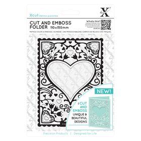 Xcut Cut & Emboss Folder - Heart Frame