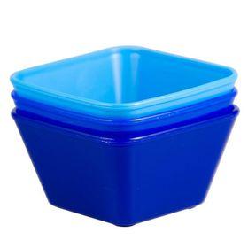 Lumoss - Mini Square Bowl 90 x 90 mm - Blue - Set Of 3