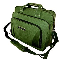 Tosca 15 inch Canvas Laptop Briefcase - Green