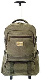 Tosca 17 inch Canvas Laptop Trolley - Green