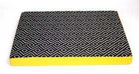 Wagworld - Lazy Lounger - Geo Charcoal & Yellow